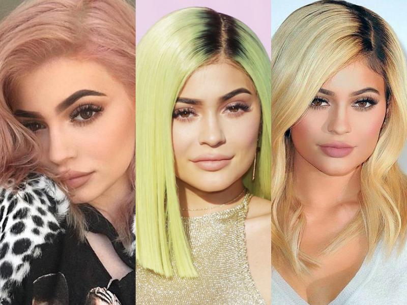 Que color de pelo usa kylie jenner